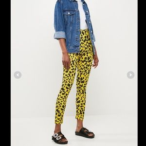 NWT Missguided Yellow Leopard Print Pants